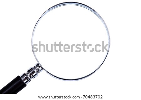Loupe, isolated. Much Space for own Text - stock photo