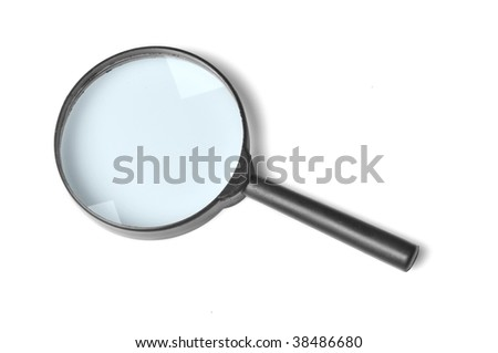Loupe on a white background