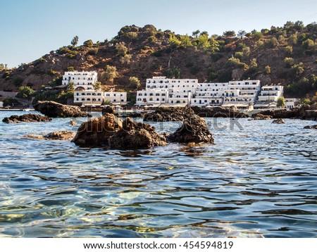 loutro village at crete, greece - stock photo