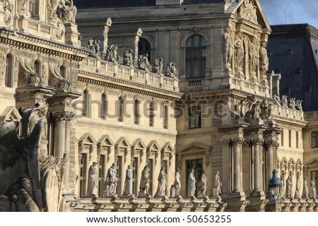 Louvre museum in Paris - stock photo