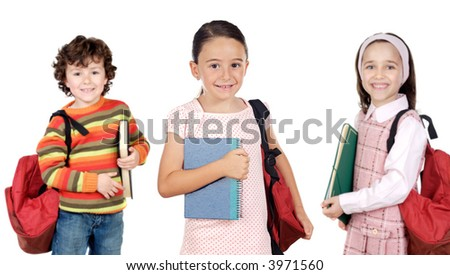lovables students childrens a over white background