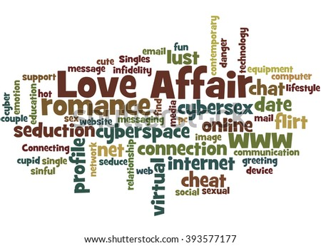 Love Affair Word Cloud Concept On White Background