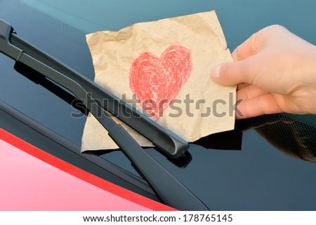 love affairs - love ticket - stock photo