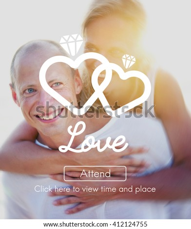 Love Affection Passion Romance Intimacy Concept - stock photo