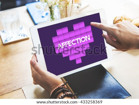 Love And Affection Heart Graphic Concept - stock photo