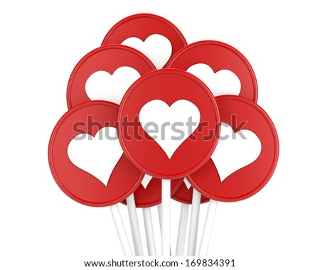 love and happiness concept for valentine - stock photo