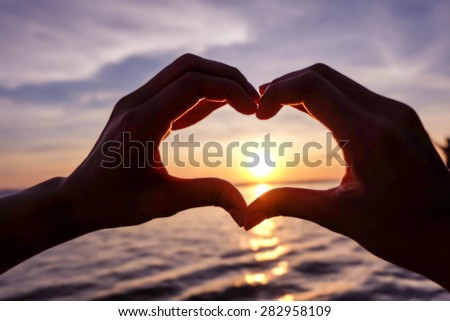 love and hope and valentine and heart and moment - stock photo