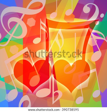 Love and music - stock photo