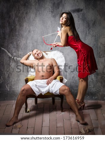 Love at the first sight - stock photo