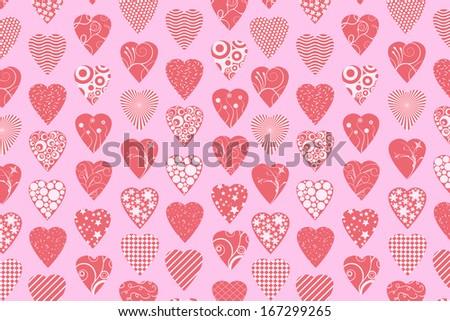 Love background - stock photo