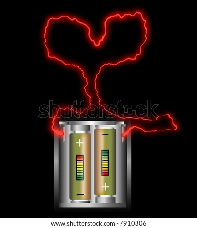 love battery - stock photo