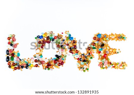 love beads sign - stock photo