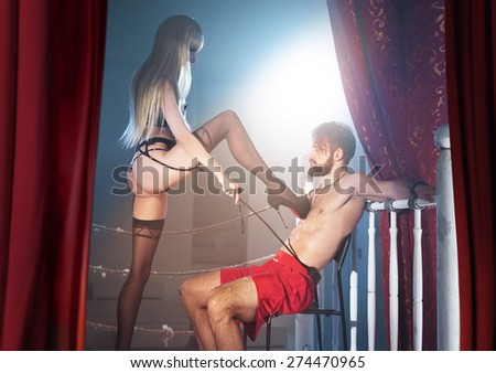 love between man and woman - stock photo