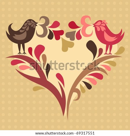 love birds - for vector format see image no 68247421