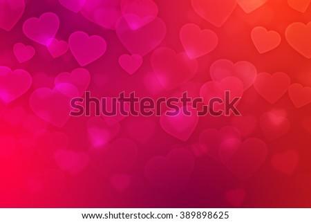 Love Bokeh Backdrop - stock photo
