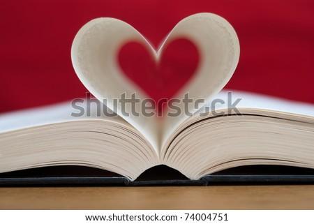 Love books, Love reading, Love Story - stock photo