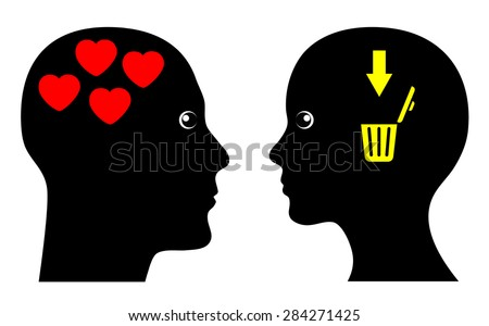 Love can be cruel. Humorous concept sign of unrequited Love. - stock photo