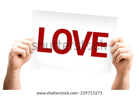 Love card isolated on white background