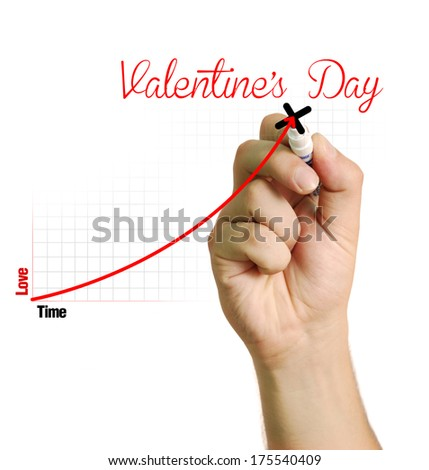Love chart for Valentine's Day - stock photo