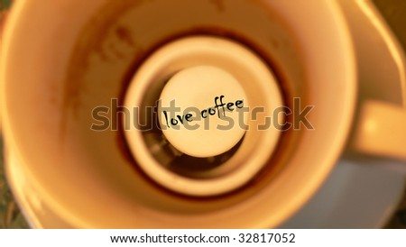 love coffee-cup