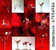 love  collage - stock photo