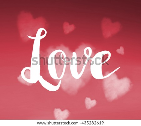 Love concept on background - stock photo