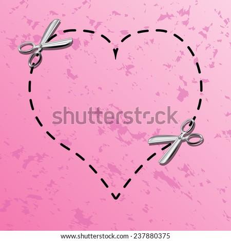 Love coupon borders - stock photo