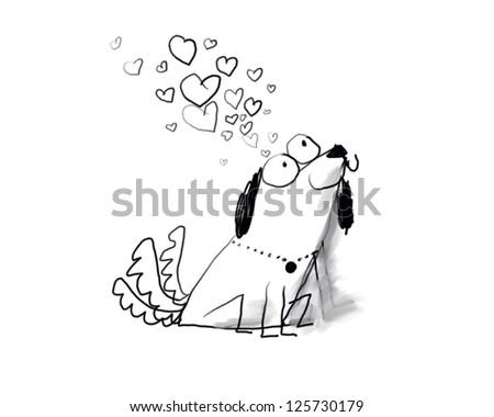 love dog - stock photo