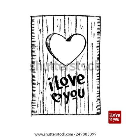 love door - stock photo