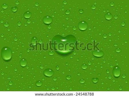 Love drops (image rendered from vector file) - stock photo
