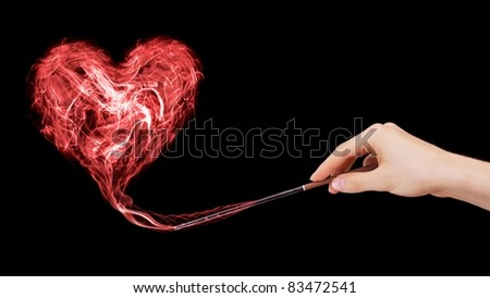 Love enchantment created by a wizard. - stock photo