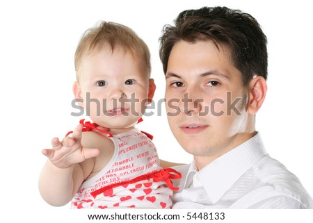 love family child happiness parent offspring father - stock photo