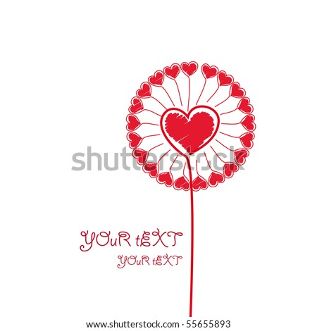 Love Flower. - stock photo