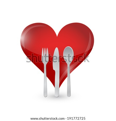 love food concept illustration design over a white background - stock photo