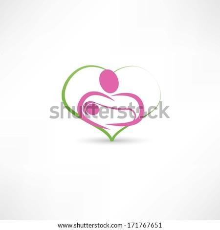 love for children icon - stock photo
