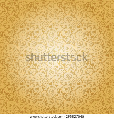Love hearts. Modern wallpaper background for Your design. Abstract background with heart. Template for design albums, greeting cards, invitations, Web pages. Hand drawn seamless pattern - stock photo