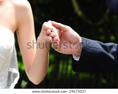 Love in Hands - stock photo