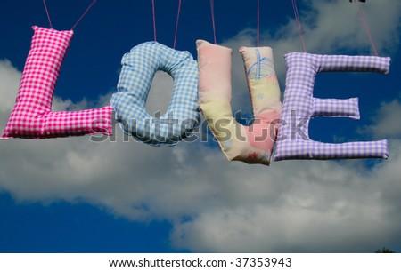 Love in the sky - stock photo