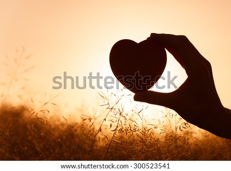 Love is in the air. - stock photo