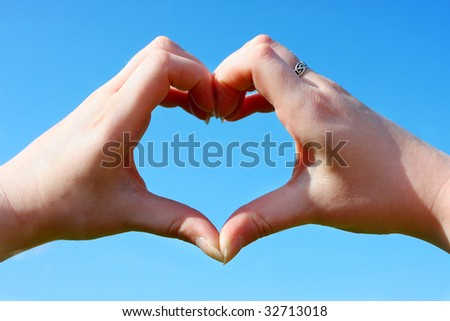 Love is in the air, love is everywhere. - stock photo