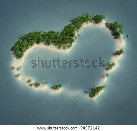 Love island - stock photo