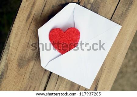 Love - letter - stock photo