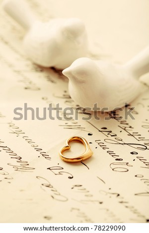 love letter - stock photo