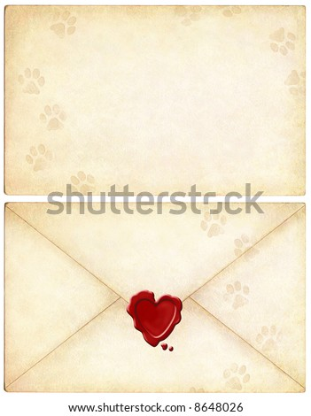 Love Letter from Your Cat - stock photo