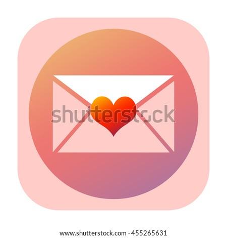 Love letter icon - stock photo