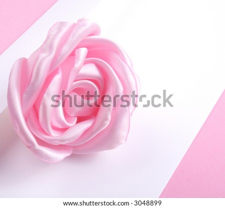 Love letter - letter and pink rose