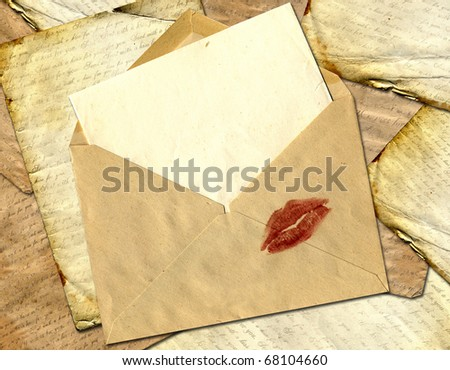 Love letter on a paper background. - stock photo