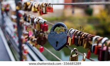 love locks - stock photo