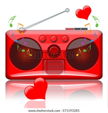 Love music radio - stock photo