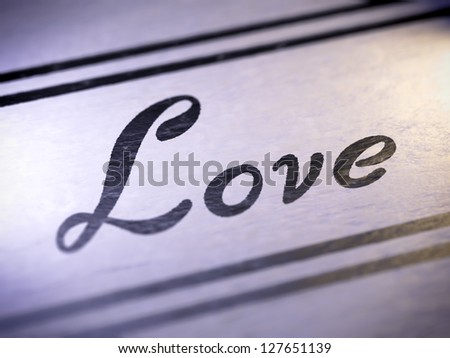 love ( my own font )  Full collection of icons like that is in my portfolio - stock photo